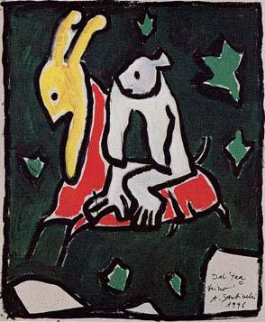 Antonio Santinelli - acrilico su cartone, 51×41 cm, 1996