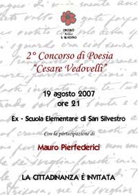 """Concorso di Poesia """"Cesare Vedovelli"""": il manifesto dell'edizione 2007"""
