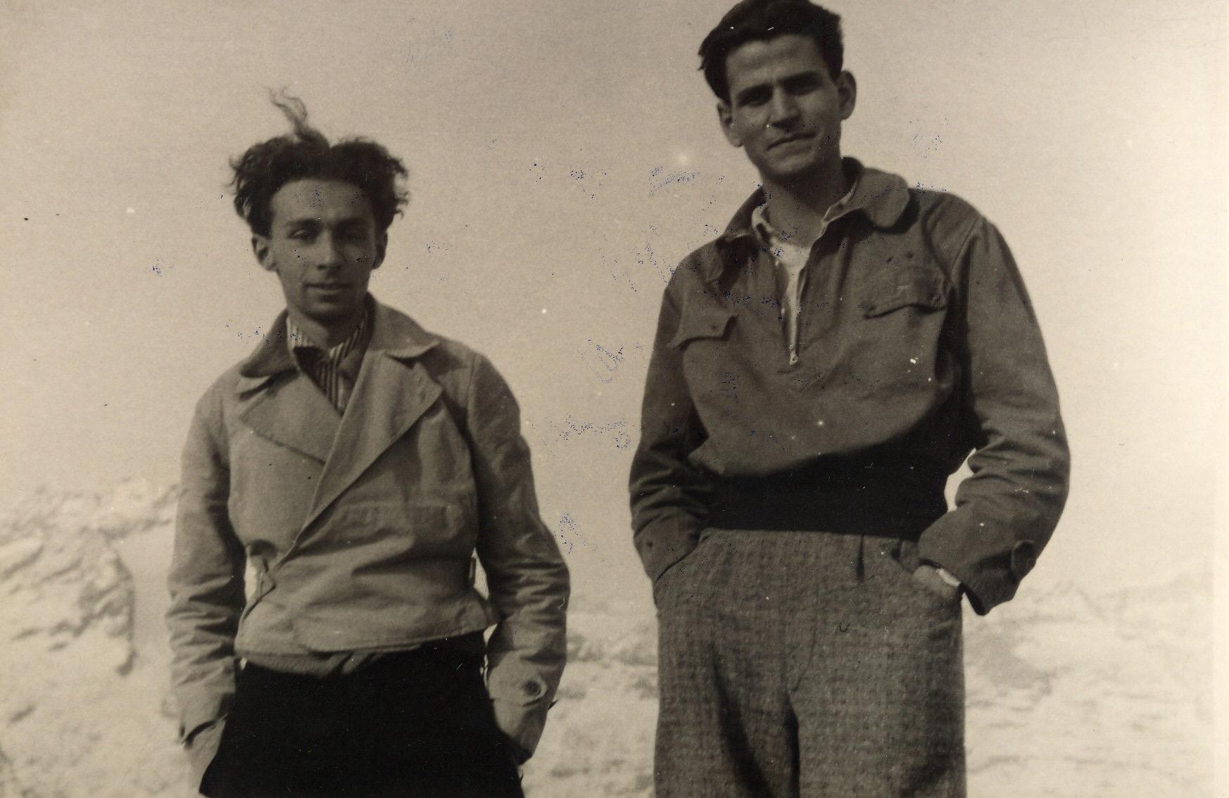 Primo Levi e Alberto Salmoni