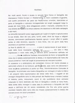 Manifesto Mostra. Giorgio De Marchis