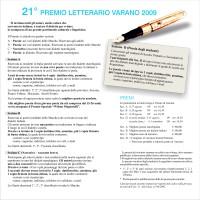 Premio Varano 2009. Pieghevole
