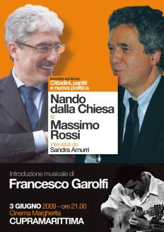 Incontro con Massimo Rossi e Nando dalla Chiesa. Introduzione musicale di Francesco Garolfi