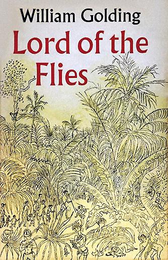 """Copertina originale dell'edizione inglese de """"Il signore delle mosche"""""""